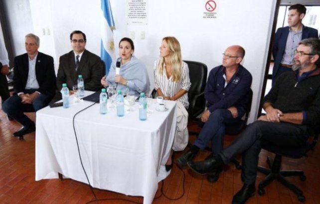 Michetti recorrió obrasen las ciudades deReconquista y Avellaneda
