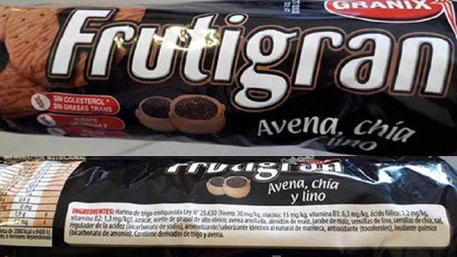La Anmat retiró de las góndolas varios lotes de galletitas Frutigran
