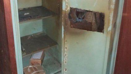 Así quedó la caja fuerte de la maderera ubicada en zona sudoeste.