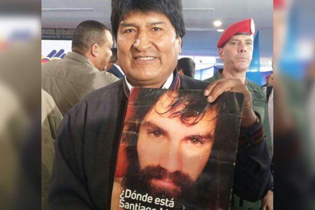 Evo Morales y Maduro se solidarizaron con el reclamo por Santiago Maldonado