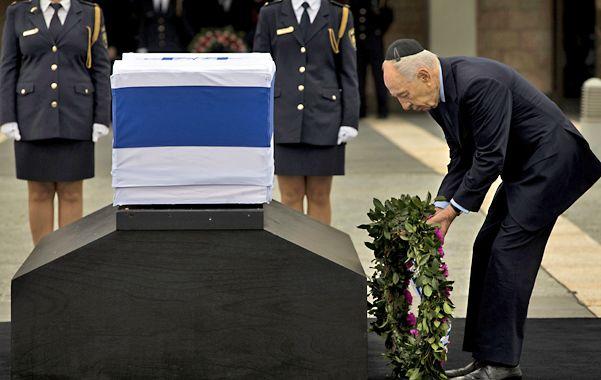Homenaje. El presidente Shimon Peres