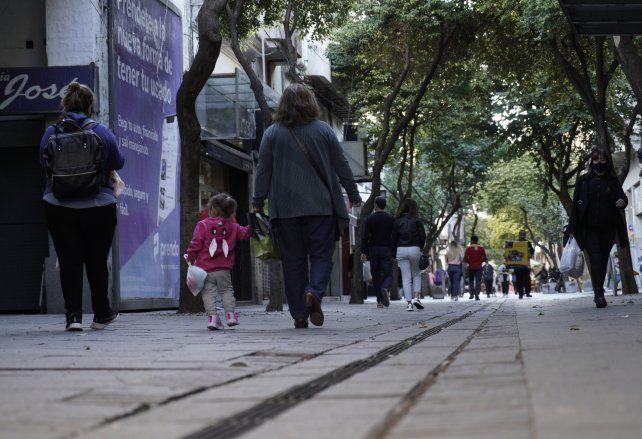 El tramo inicial de la peatonal Córdoba