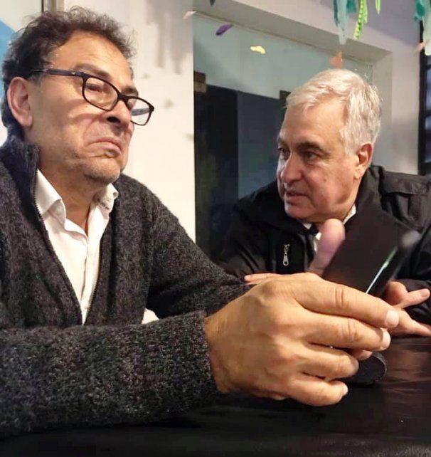 El actor Agustín Di Mella y el director del Teatro provincial Ideal de Venado Tuerto, Oscar Barotto, apuestan fuertemente a la construcción del Polo Cultural en Murphy.