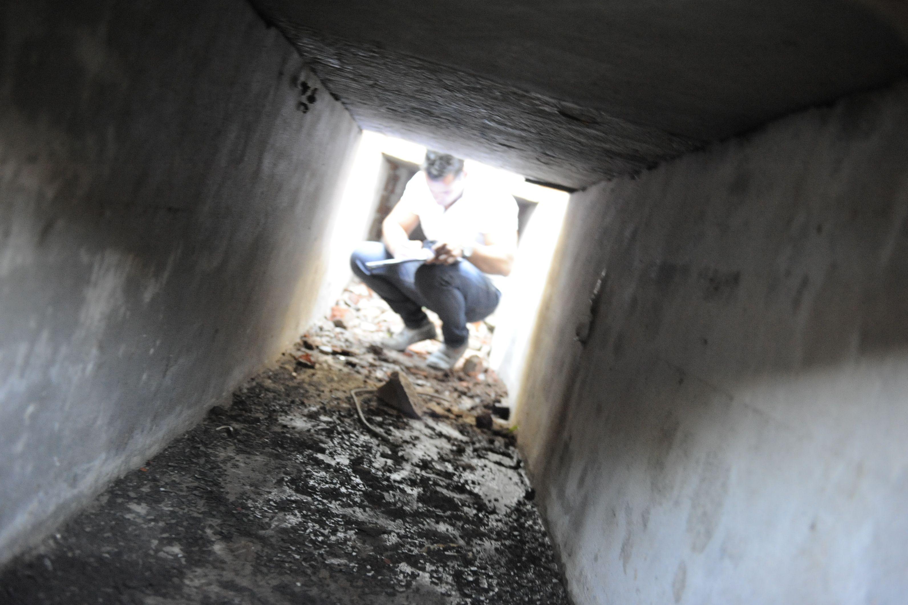 Melián 6400. Este túnel nacía a cinco metros del búnker allanado en 2012.