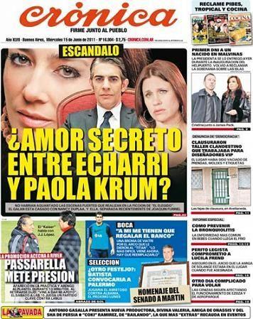 Pablo Echarri se ríe de los rumores de romance con su compañera Paola Krum