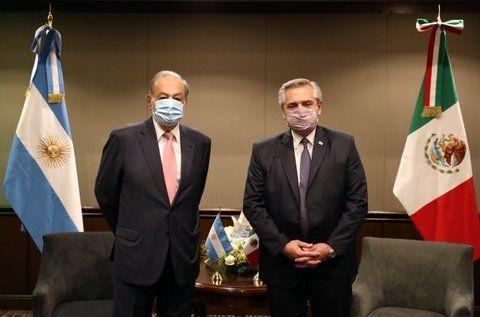 El presidente Alberto Fernández se reunió con el magnate mexicano