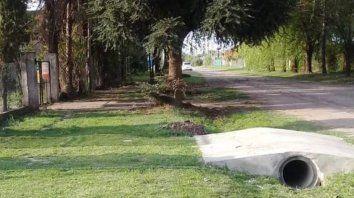 El terreno del litigio se encuentra en el loteo Santa Teresa de Roldán.