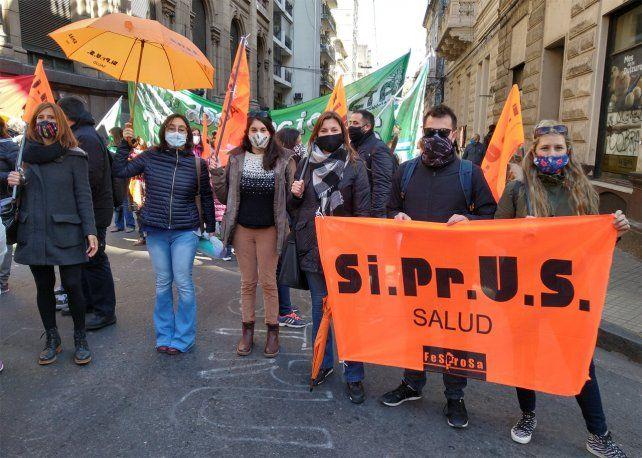 Los profesionales nucleados en Siprus realizan un paro.