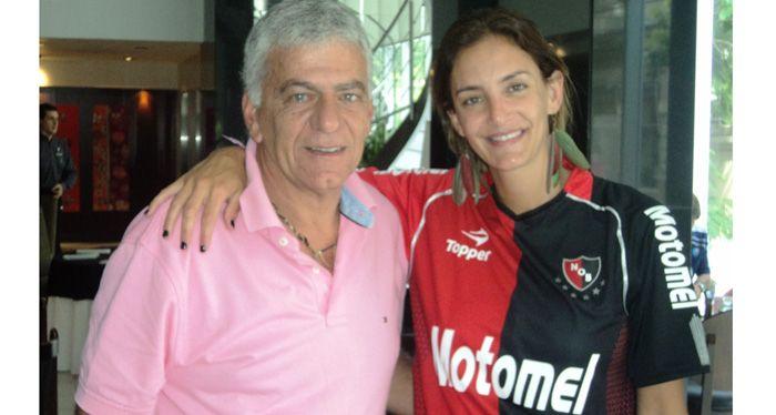Lucha Aymar, rosarina, bella, exitosa y socia honoraria de Newells