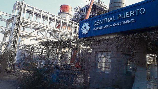 La obra. La empresa construye una central termoeléctrica.