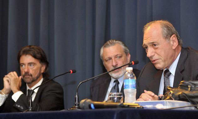 En 2009 Erbetta y Zaffaroni juntos en ocasión de una charla en la Facultad de Derecho junto al entonces decano Ricardo Silberstein. (Foto Archivo)