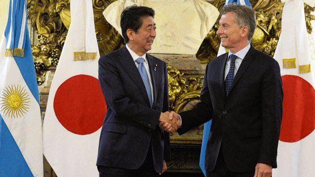 Encuentro. Macri y Abe