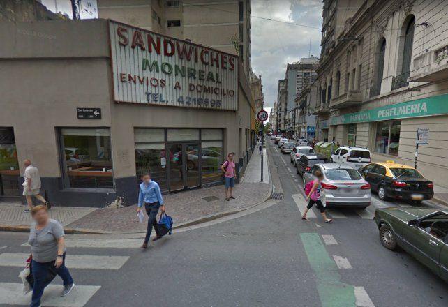 Audaz robo a una conocida sandwichería en pleno centro rosarino