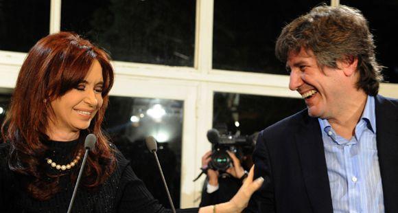 Boudou agradeció la confianza de Cristina al designarlo como candidato a vice