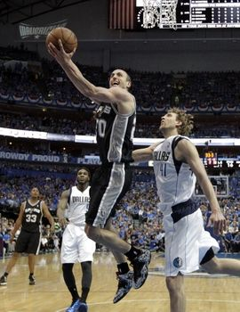 La planilla del zurdo número 20 de los Spurs incluye 6-8 en dobles