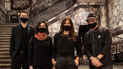 El cuarteto BAMP interpretó Saludo a la bandera en el ECU.