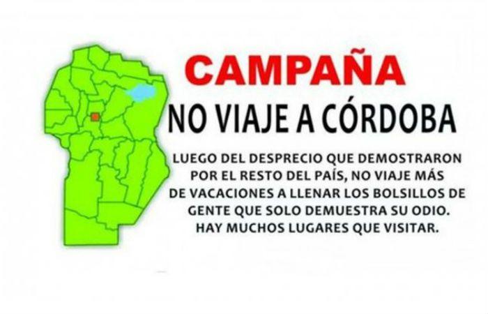 El afiche de la campaña contra el veraneo en Córdoba publicado en Twitter.