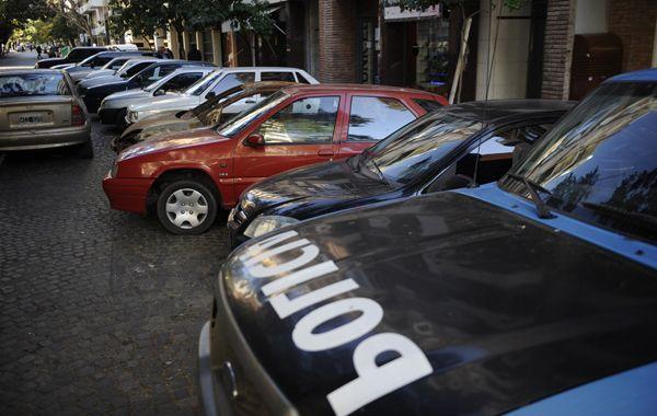 Autos frente la comisaría 3ª