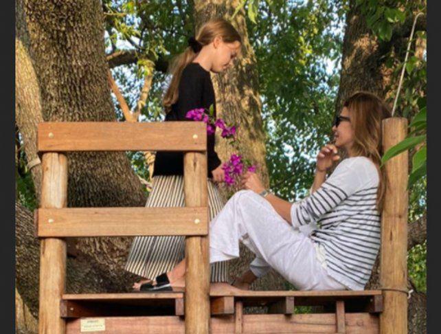 Juliana Awada mostró cómo disfruta de las tardes con su hija Antonia