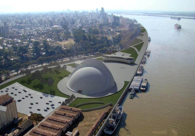 proyecto. Lo ideó el fallecido arquitecto brasileño Oscar Niemeyer sobre la costanera central de la ciudad