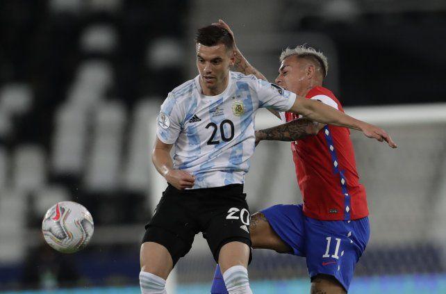 Lo Celso frente a Chile en un partido de la pasada Copa América.