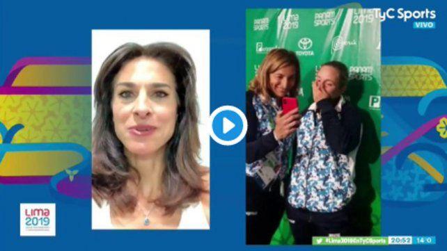 Sabatini le mandó un video a Podoroska, que no pudo contener la emoción
