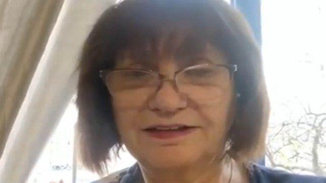 Patricia Bullrich contó en un video que tiene coronavirus