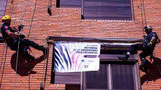 Bomberos Zapadores de Rosario también se suman a la campaña plantá bandera por las EPOF.
