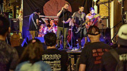 Metal y hardcore sonaron en el Centro Cultural Juan L. Ortiz