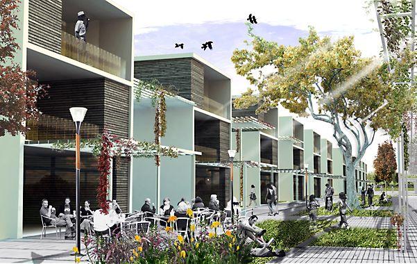 Nuevos hogares. Imagen digital de las viviendas proyectadas. (gentileza Gobernación)