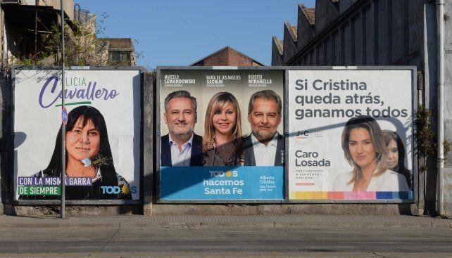 La campaña se hace notar en los afiches y en los spots.