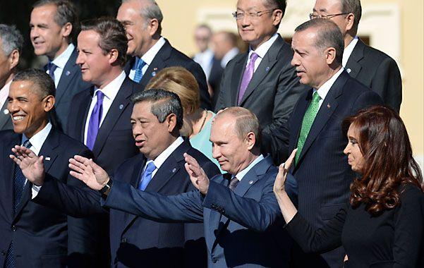 Encuentro. Cristina coincidió con Obama en la última cumbre del G-20
