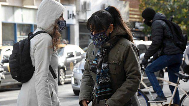 Frío polar: dos tercios del país con temperaturas menores a los 5 grados