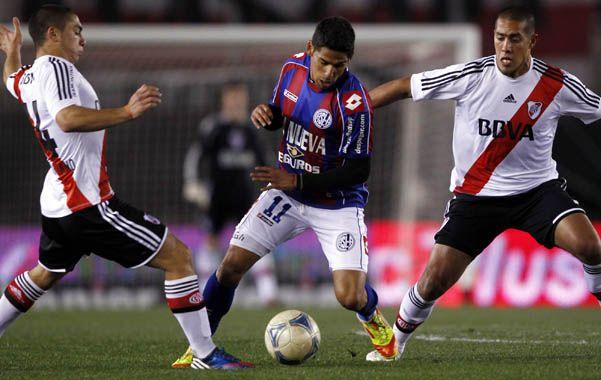 Picó el punta. Franco Jara jugó en San Lorenzo durante la última temporada