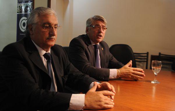 Dialogo. Diab y Rovitti buscaron puntos de acercamiento por los alquileres. (foto: Silvina Salinas)
