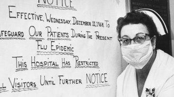 Alerta en un hospital de la ciudad de Cleveland, EEUU, en diciembre de 1968