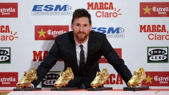 Messi recibirá por sexta vez la Bota de Oro