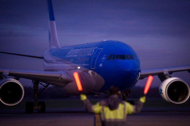 El vuelo de Aerolíneas Argentinas fue anunciado por el presidente de la línea de bandera