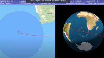 Las agencias espaciales de Estados Unidos y Europa siguen minuto a minuto la trayectoria del cohete chino.