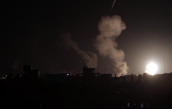 Tensión y explosiones en el sur de la Franja de Gaza. (foto: AFP)
