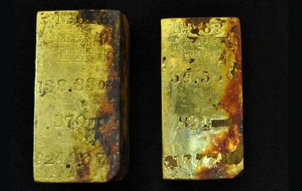 Los lingotes de oro estaban dentro del SS Central America