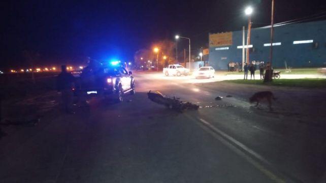 El accidente se produjo en el cruce de la ruta con calle Sarmiento