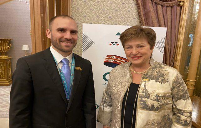 Guzmán y Georgieva. La renegociación de la deuda es uno de los temas principales a abordar.