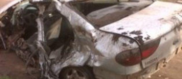 En el Renault Megane murieron el chofer y su acompañante.
