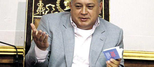 La carta. La comunicación del mandatario fue enviada a la Asamblea por Maduro y leída por Diosdado Cabello (foto).