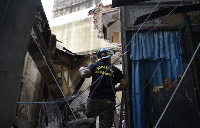La explosión se produjo alrededor de las 18.30 en Balcarce al 23 bis. Fue el miércoles pasado.