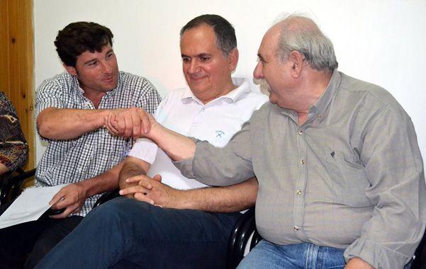 Otras épocas. Natalio Latanzi y el director de Seguridad Regional del Nodo 5