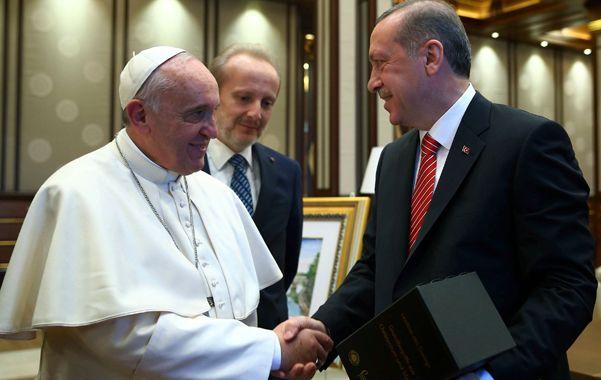 Rispidez. El pontífice con Erdogan