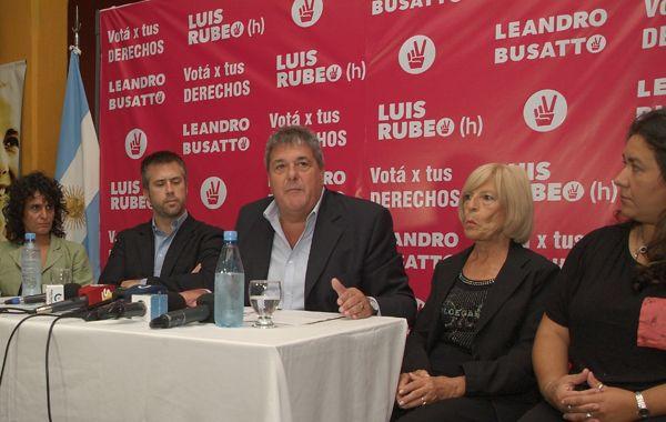 Rubeo presentó hoy la lista de precandidatos diputados provinciales para las PASO.