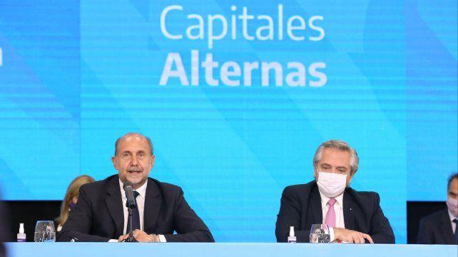 El gobernador Omar Perotti y el presidente Fernández coordinaron obras que fueron anunciadas este viernes.